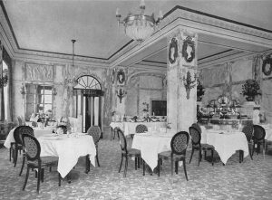 Sauce Diable Escoffier, serviert im Marmorsaal des Hotel Adlon